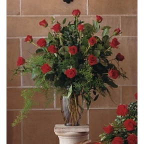 Red Rose Tribute Vase (Small)