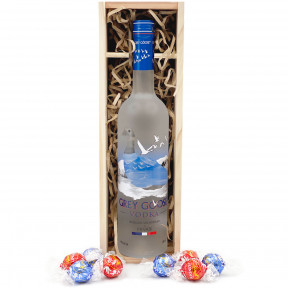 Grey Goose Vodka Gift Box with Chocolates