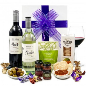 Double wine and Savoury Gift Hamper