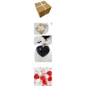 Red And White Love Heart Pop Me Balloon In A Box