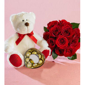 Love Smiles (12 Roses + Chocolates)