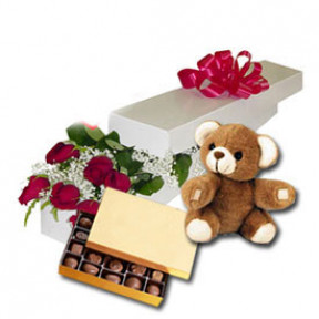 Lovely Day (24 Roses + Teddy Bear24)