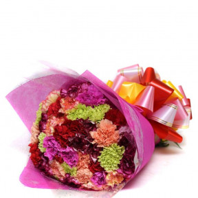 Exclusive Mixed Carnation Bouquet