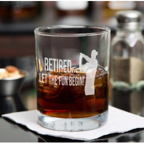 Personalised Retirement Whiskey Glass