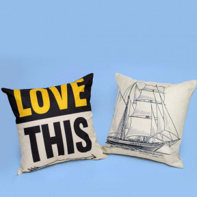 Set Of Two Love Nautical Throw Pillow Covers