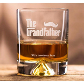 Engraved Whisky Glass - The Grandfather