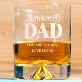 Engraved Stern Whisky Glass - Number 1 Dad