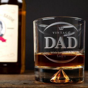 Engraved Stern Whisky Glass - Vintage Dad