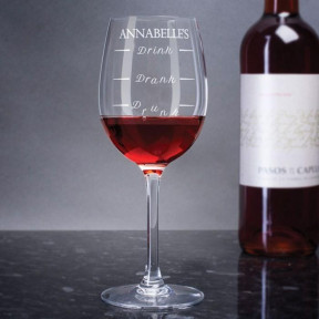 Personalized Drink To Drunk Wine Glass