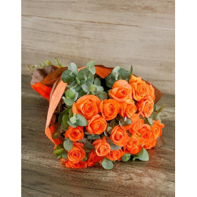 Radiant Orange Rose Bouquet