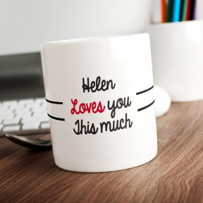 Personalised Big Hug Tea Mug