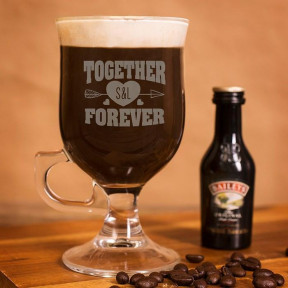 Personalized Irish Coffee Glass - Together Forever
