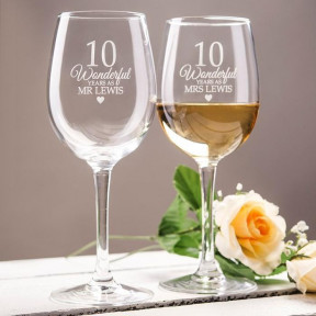 Personalised Wonderful Years As Set Of 2 Wine Glasses