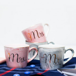 Mr And Mrs Ceramic Tea Mugs.
