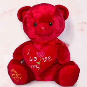 I Love You Red Large Teddy Bear