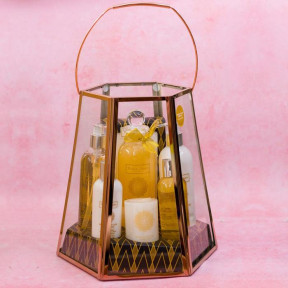Winter In Venice Lantern Bath Gift Set - Himalayan Lime & Bay Leaf
