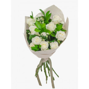 Lovely White Rose Bouquet (Small)