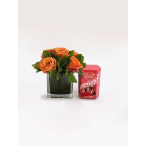 Orange Rose Lindor Treat With 50g Lindt Lindor