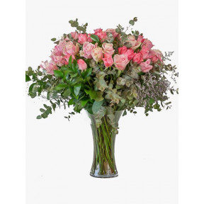 Pink Or Pastel Rose Vase (Small)
