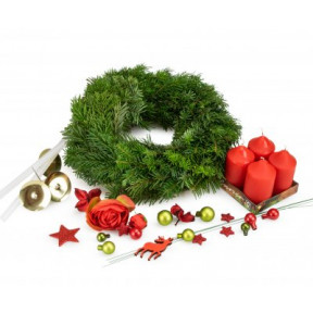 Advent wreath for home creation traditional RED