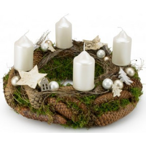 Advent wreath Luxury White