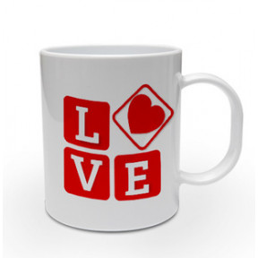 Love In Bold Personalised Mug