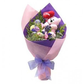 Perfect Love Bouquet (Perfect Love Bouquet (1 Teddy Bear))