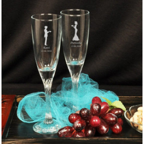 Personalised Champagne Glasses
