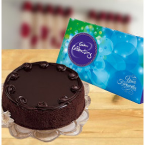 Choco Fest Combo (1/2 Kg Chocolate Cake - Celebrations (168 gm))