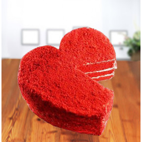 Red Velvet Heart Cake (1 Kg Cake)