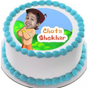 Personalised Chota Bheem Photo Cake 1 Kg