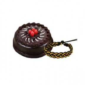 Cake With Friendship Band (1/2 Kg Chocolate Cake and Friendship Band)