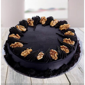 Dark Chocolate Cake With Walnuts