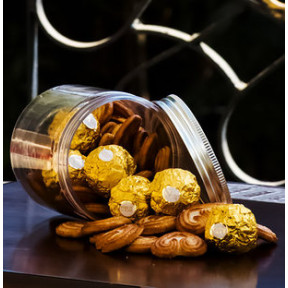 Cookies And Chocolates In A Jar