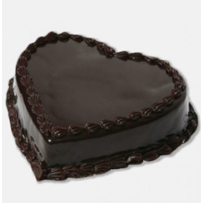 Heart Chocolate Cake (1 Kg Chocolate Cake)