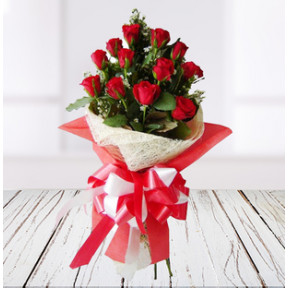 Exotic Red Roses Bouquet (18 Red Roses)