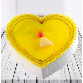 Heart Shaped Pineapple Cake (1 Kg Pineapple Cake)