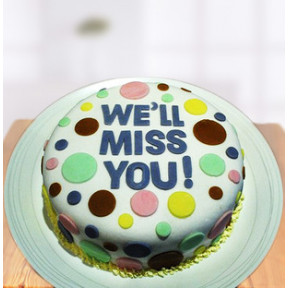 Miss You Farewell Cake (1 Kg Fondant Cake)