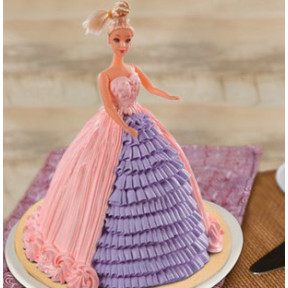 Barbie Floral Dress Cake (2 Kg)