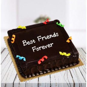 Friendship Day Cake Truffle Square (1 Kg Chocolate Truffle)