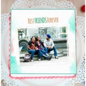 Best Friends Photo Cake (1 Kg Cake)