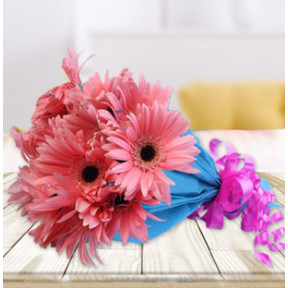 Pink Gerbera Bouquet (24 Flower)