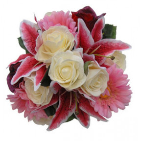 Lily, Roses and  Gerbera Bouquet (15 Flower)