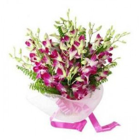 Purple Orchid Bunch (6 Flowers)