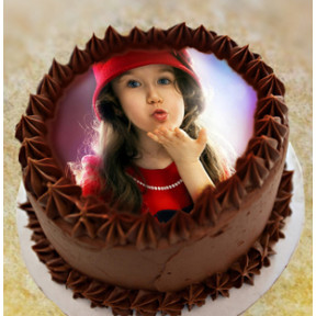 Chocolate Photo Cake (1 Kg)