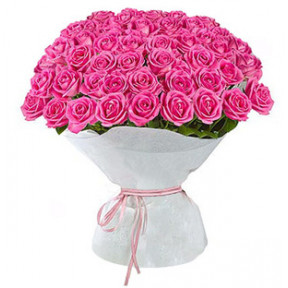 Pink Roses Bouquet Large (75 Roses)