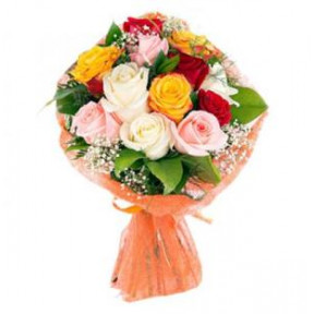 Mixed Roses Bouquet (18 Roses)