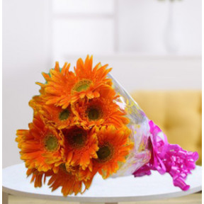 Orange Gerbera Bouquet (18 Orange Gerbera Bouquet)