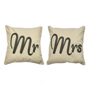 Mr and  Mrs Matching Cushions