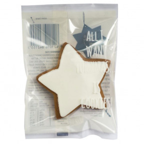 White Iced Star Gingerbread 24G X 6